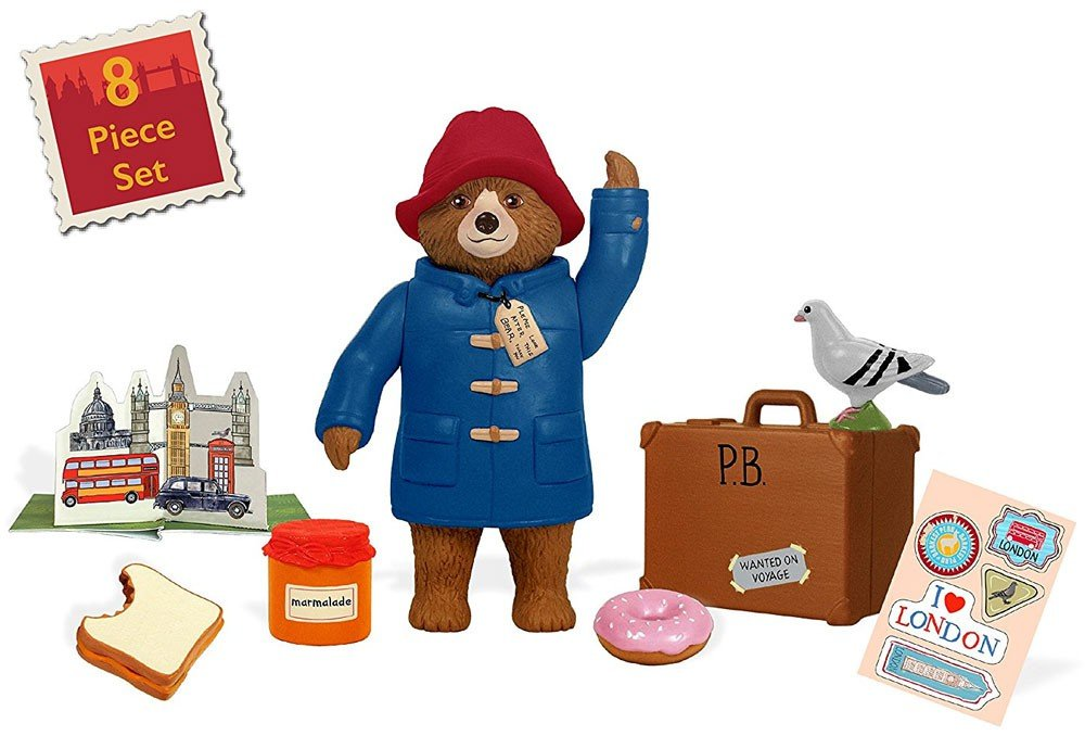 Paddington Bear Teddy Bear Paddington Movie Toys /& Suitcase 8 Pc Set