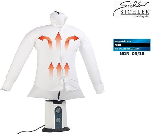 Sichler Haushaltsgeräte Camisa plancha: 2 in1 para planchar, de aire caliente de ventiladores de muñecas y perchero, temporizador, 850 W de planchar (ayuda): Amazon.es: Hogar