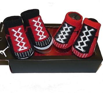 Amazon.com: Los niños Botitas de Nike Air Jordan, Rojo Negro ...