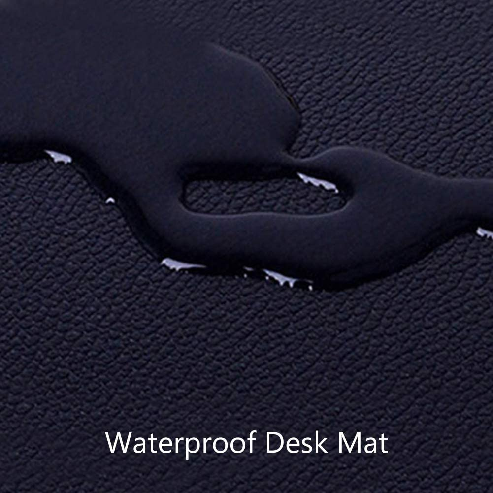 JYAcloth Desk Pad Protector Extended Gaming Mouse Pad Pu Leather Desk Mat Waterproof Non Slip Laptop Writing Mat Desk Blotter Protector for Office Home Gaming-Black 120x60cm 47x24inch