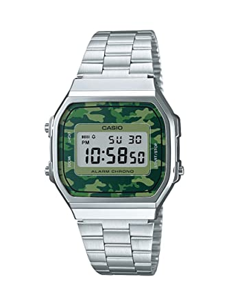 332ba0e968ff Image Unavailable. Image not available for. Colour  Casio Vintage Series  Digital Green Dial Unisex Watch ...