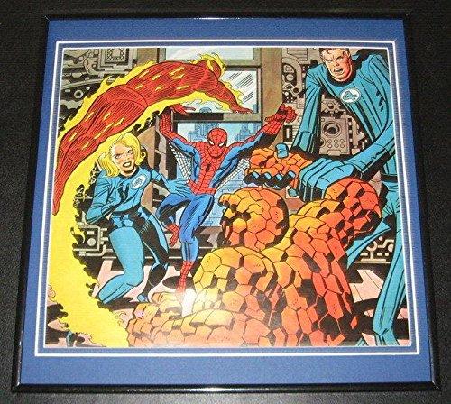 Amazing Spiderman & Fantastic Four Original Framed 1978 Marvel Poster