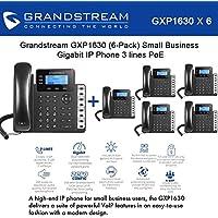 Grandstream GXP1630 Bundle of 6 Gigabit IP Phone 3 lines 3 XML LCD HD audio PoE