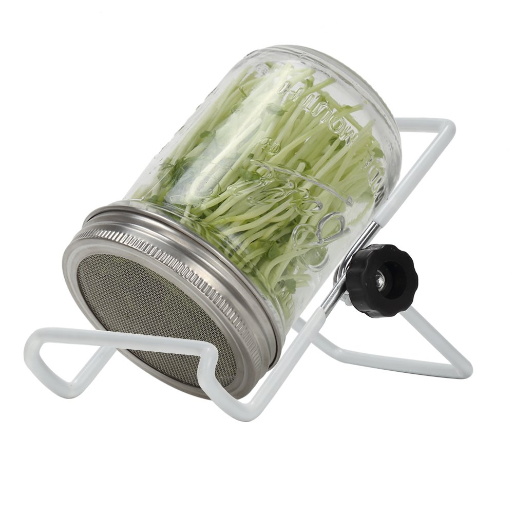 Sprouting Jar Lids Kits - 304 Stainless Steel Sprouting Lids and Sprouting Stands With Water Tray For Wide Mouth Mason Jars