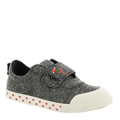 56500770cfb TOMS Tiny Kids Doheny Black Slub Chambray Sweetheart 4 M US Sneakers