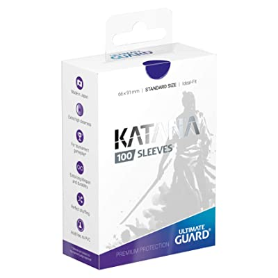 Ultimate Guard Katana Sleeves Standard Size Blue (100): Toys & Games