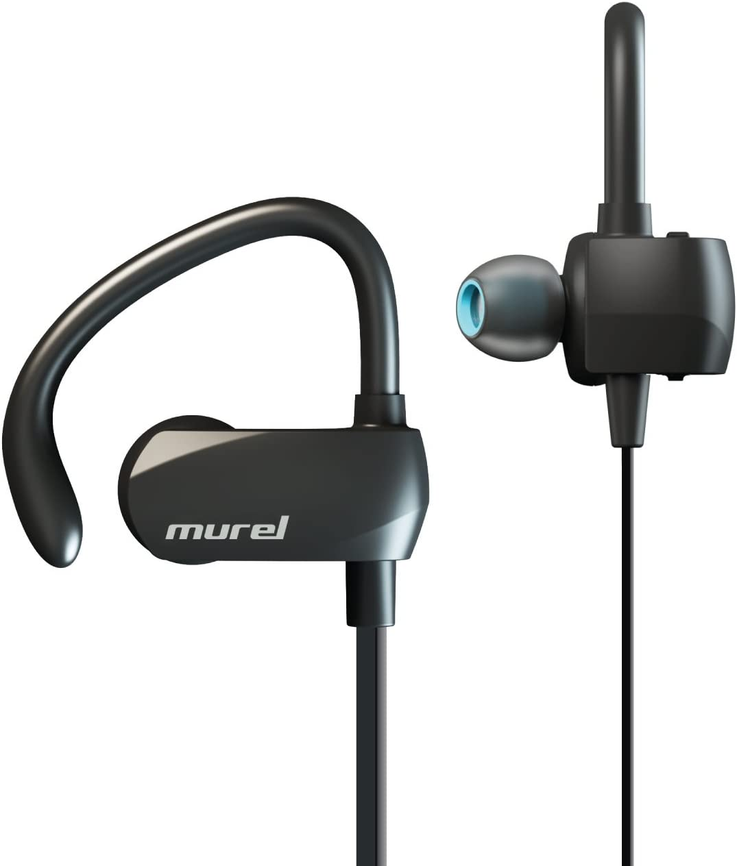 Murel Best Bluetooth Earbuds Wireless Sport 8 Hour Play Time in-Ear Exercise Running Sweat Proof Bluetooth 4.1, Secure Ear Hooks Design with Premium Comply Foam Ear Tips P02 New