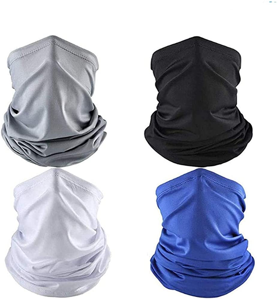 4 Pcs Cooling Neck Gaiters/Face Cover Balaclava for Men/Bandanas Neck Gaiter for Women