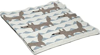 product image for in2green Baby Fox Eco Throw - Blue