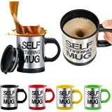 Self Stirring Mug Stainless Steel Coffee Mug (Multicolour, 350ml)