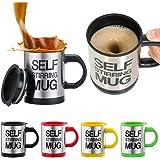 Self Stirring Mug Stainless Steel Coffee Mug, 350ml (Multicolour)