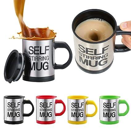 544f407fc23 Self Stirring Mug Stainless Steel Coffee Mug (Multicolour, 350ml)