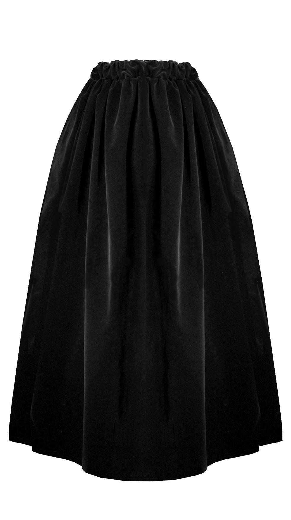 Victorian Valentine Steampunk Gothic Civil War Velvet Bustle Skirt (Black) by Cykxtees (Image #2)
