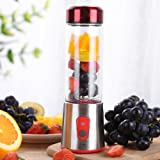 Decdeal Electric Juicer Cup Portable Mini Blender pour Smoothie Milk-Shake Jus de Fruits Masque Facial 7.4V Rechargeable - 350ml