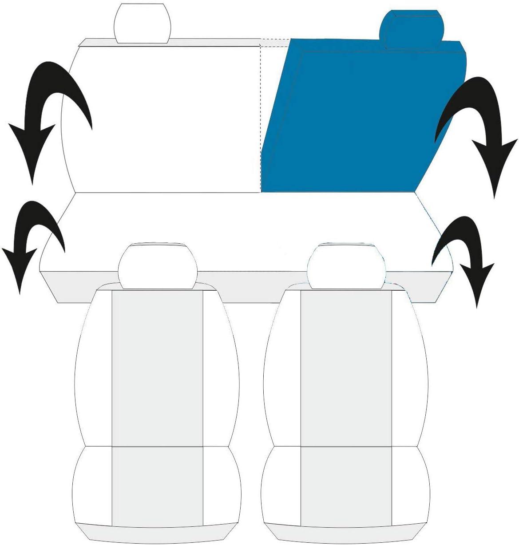 Nero//Rosso Lupex Shop 013b.R1 Coprisedili Auto Panda con Sedili Posteriori Divis