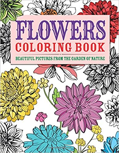 Amazoncom Flowers Coloring Book Beautiful Pictures from the