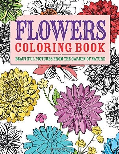 Flowers Coloring Book Beautiful Chartwell product image