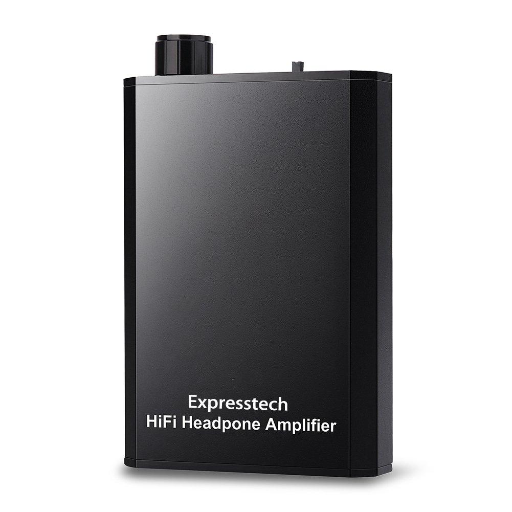 Expresstech @ Audio amplificador portátil de auriculares Estéreo audio Amplifier con mm