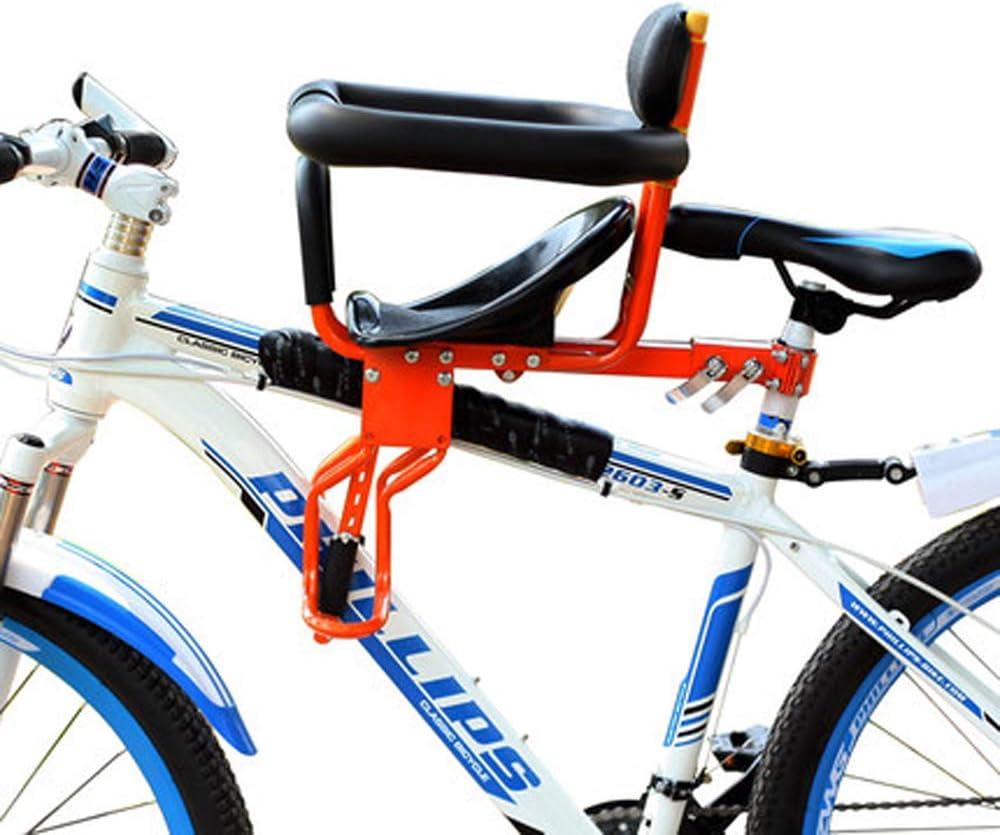 Heart of Beauty Asiento de Bicicleta Infantil de Montaje Frontal, Bicicleta para niños Asiento del Asiento Delantero Portador Asientos Deportivos Asiento Cojín con asa, de 8 Meses a 7 años de Edad