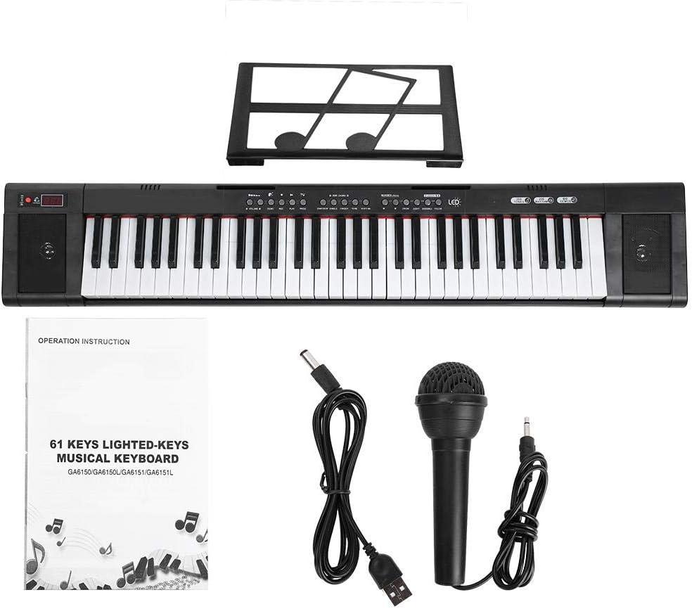61 teclas de piano eléctrico digital, teclado portátil ...