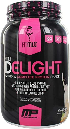 FitMiss Delight Protein Powder, Healthy Nutritional Shake for Women, Whey Protein, Fruits, Vegetables and Digestive Enzymes, Support Weight Loss and Lean Muscle Mass, Vanilla Chai, 2 Pound