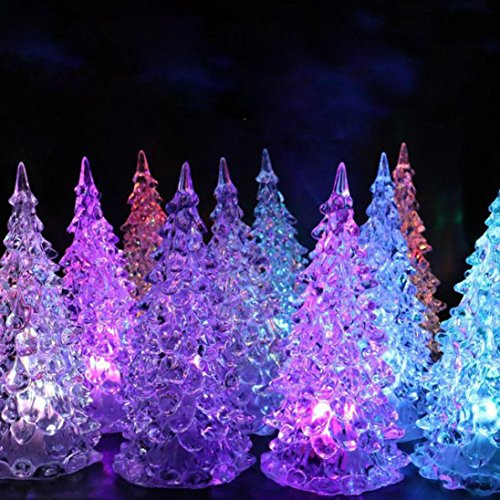 Christmas Decoration ,Ikevan Christmas Xmas Tree Color Changing LED Light Lamp Wedding Room