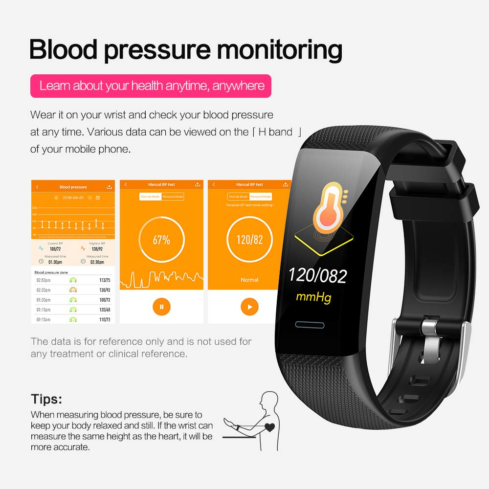 YUNSS Fitness Tracker,Activity Tracker with Heart Rate Monitor, Waterproof Smart Fitness Watch with Sleep Monitor, Step Counter, Calorie Counter, Pedometer Watch for Kids, Women and Men