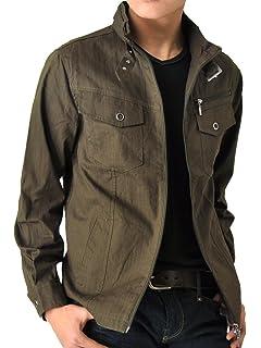 37dd63919689 (アローナ) ARONA ミリタリージャケット シャツジャケット メンズ ジャケット 長袖/Y
