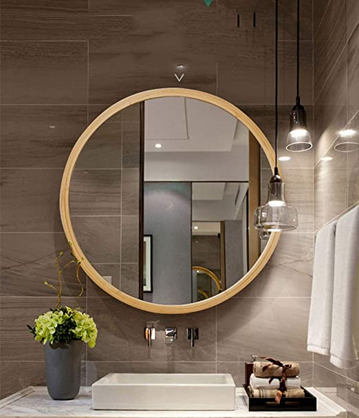 Espejo de baño Espejo Europeo Redondo Grande De Pared Espejo De ...
