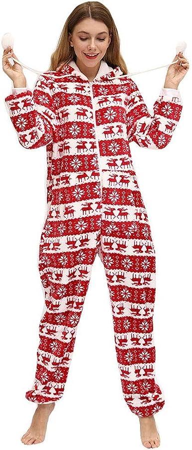 Macondoo Men Cartoon Sleepwear Jumpsuit Outfit Hoodie Pajama Sets
