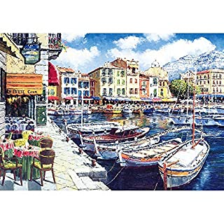 Puzzles for Adults Jigsaw Puzzles 1000 Pieces for Adults Kids– Sea Boat Jigsaw Puzzle Game Toys Gift