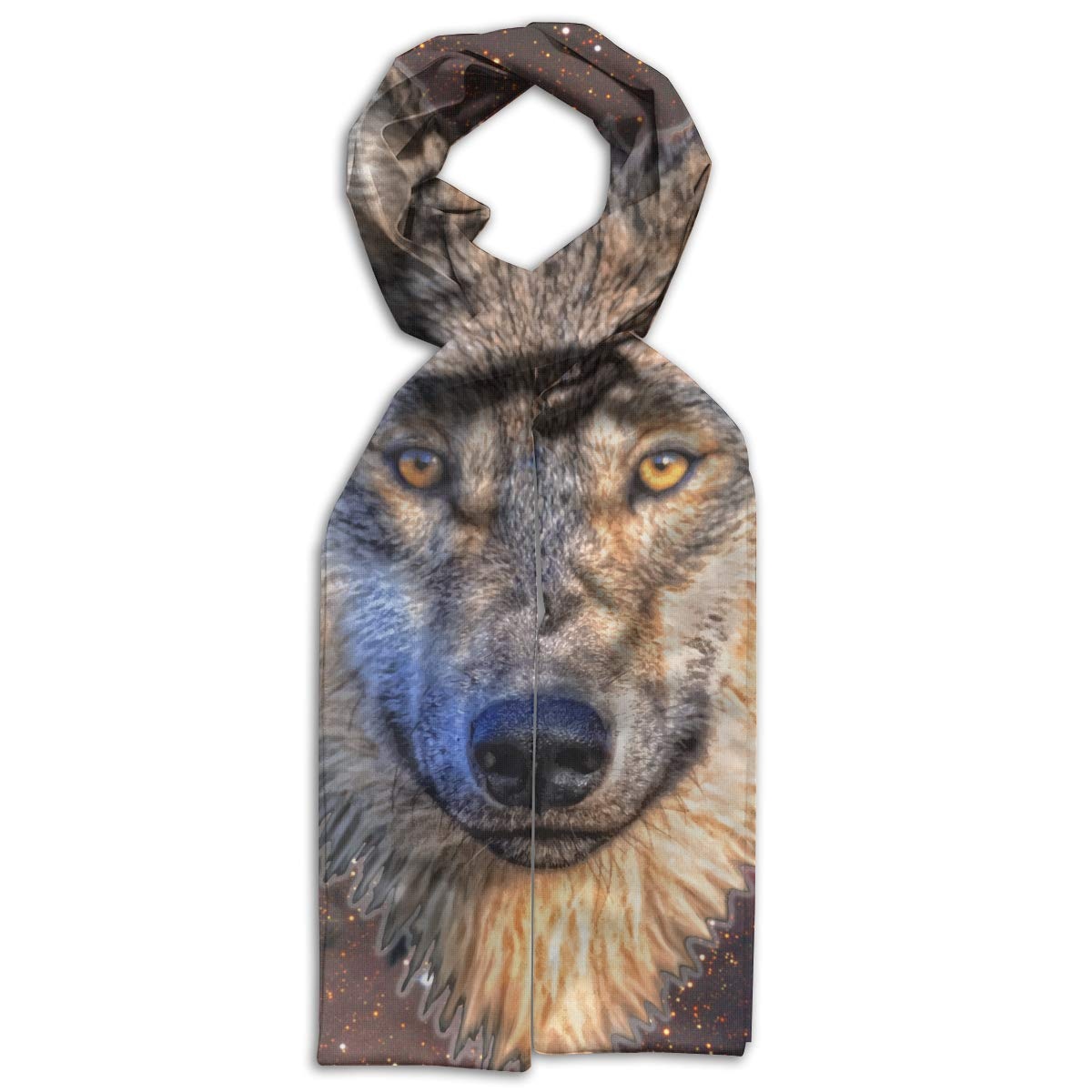 Starry Sky Wolf Kids Printed Scarf Comfortable Winter Infinity Scarf Warmer Travel Scarf For Kids Perfect Birthday Gift