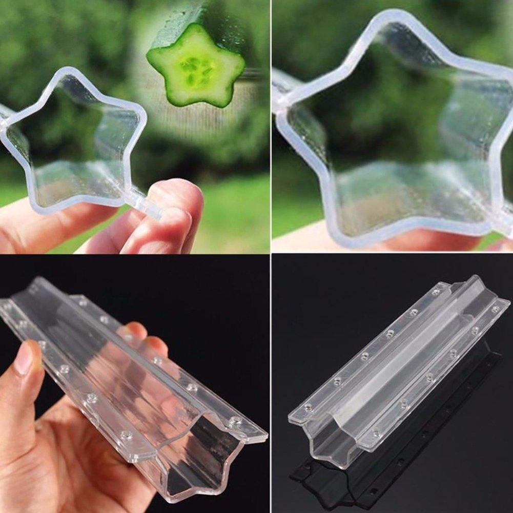tianxiangjjeu Moule /à l/égumes en Plastique en Forme d/étoile Transparent