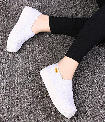 Baskets Fashion Petit Talon Semelle Aisun Femme Sneakers Blanc Epaisse TPqO0x1nxw