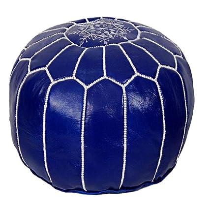 Cool Amazon Com Morrocan Pouf Ottoman Pouf Blue Floor Pouf Machost Co Dining Chair Design Ideas Machostcouk