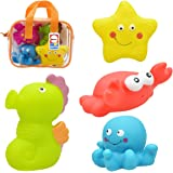 OASMU Bath Toys, Water toys , 4 Pack Lovely Marine life Water Toys for Children