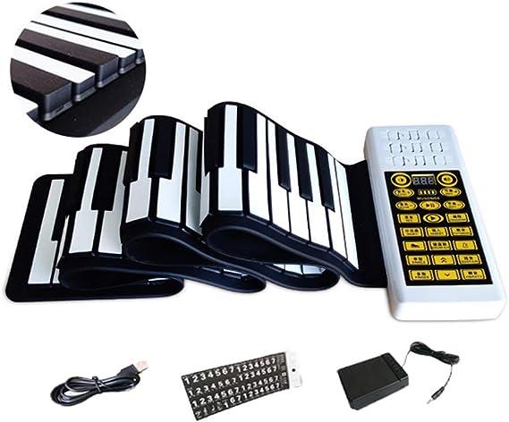 WoLoYo Teclado De Piano Portátil De 88 Teclas Enrollables ...