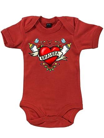 Clothinx Baby Body Unisex Tattoo Oma Opa Rot Größe 86 92