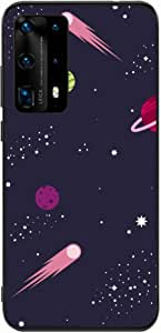 Okteq Back cover Compatible with Huawei P40 Pro - outer space1 By Okteq