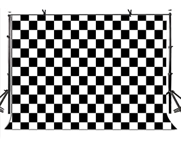 Lylycty 7x5ft Checkers Backdrop Black And White Racing And Checkered Pattern Photo Booth Chess Board Texture Grid Photography Background Lyzy0505