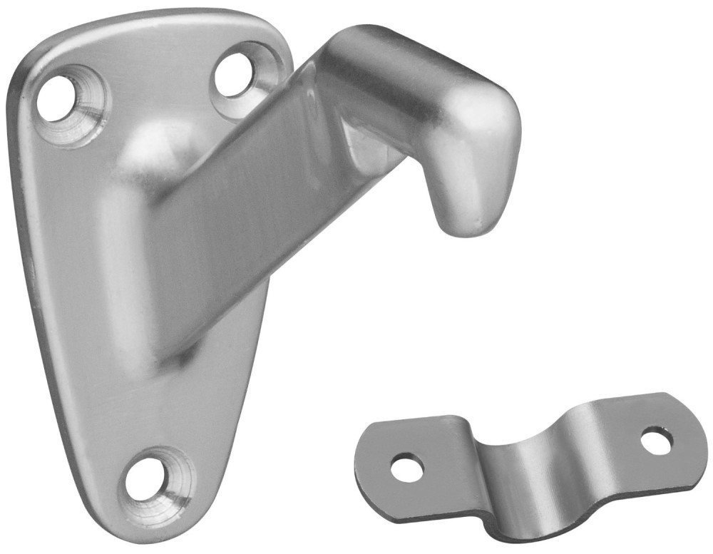 Satin Nickel 3 Pack 3 Inch Handrail Brackets for Staircases