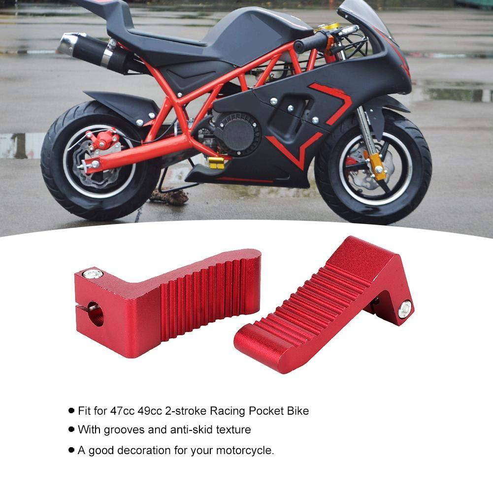 Qii lu 1 par Mini Moto Footpeg Pedal de reposapi/és de aleaci/ón de aluminio para 47cc 49cc 2 tiempos Racing Pocket Bike