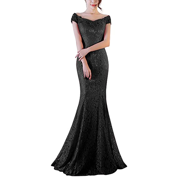 Vickyben Womens 2017 V-neck Lace Backless Mermaid Prom Dress Evening Dress Bridesmaid Dress Ball