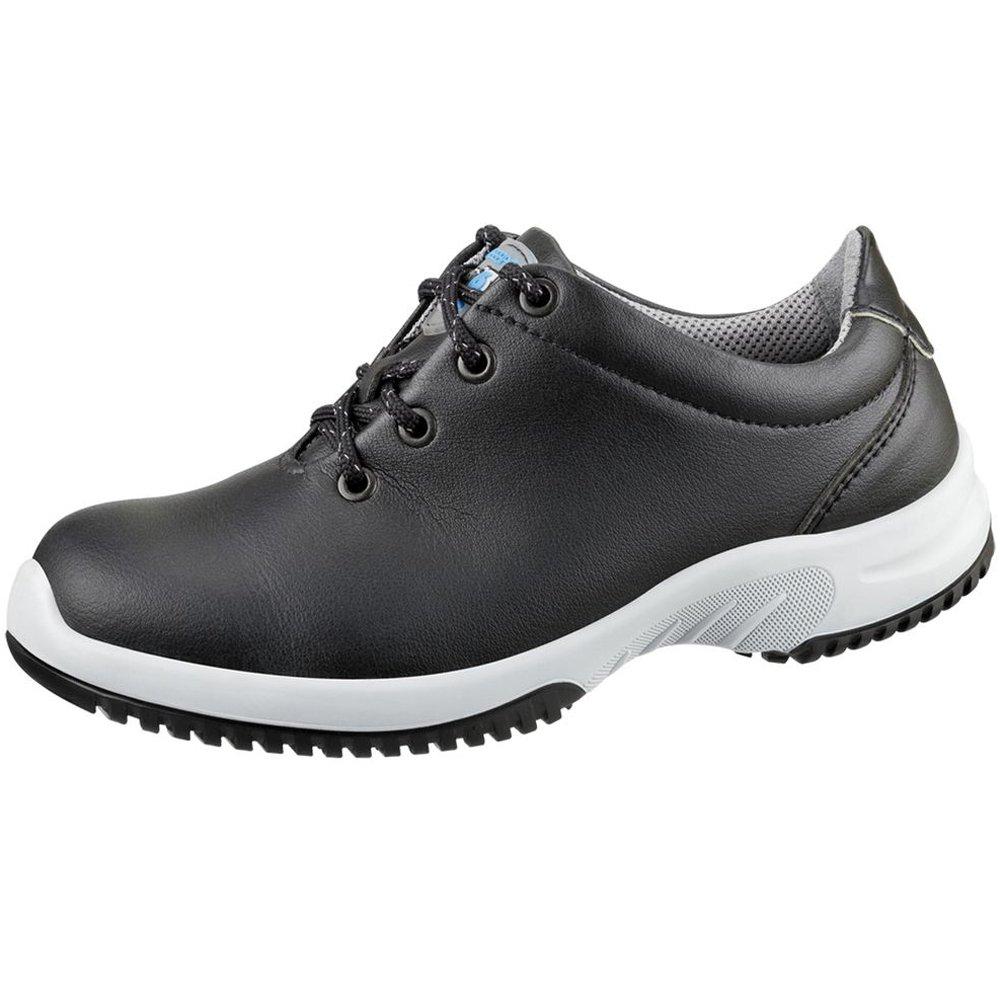 Abeba - Zapatos de trabajo (aptos para cocina, microfibras A, plantilla intercambiable, antideslizante, O2 ,FO, SRC, HACCP), color negro 6781