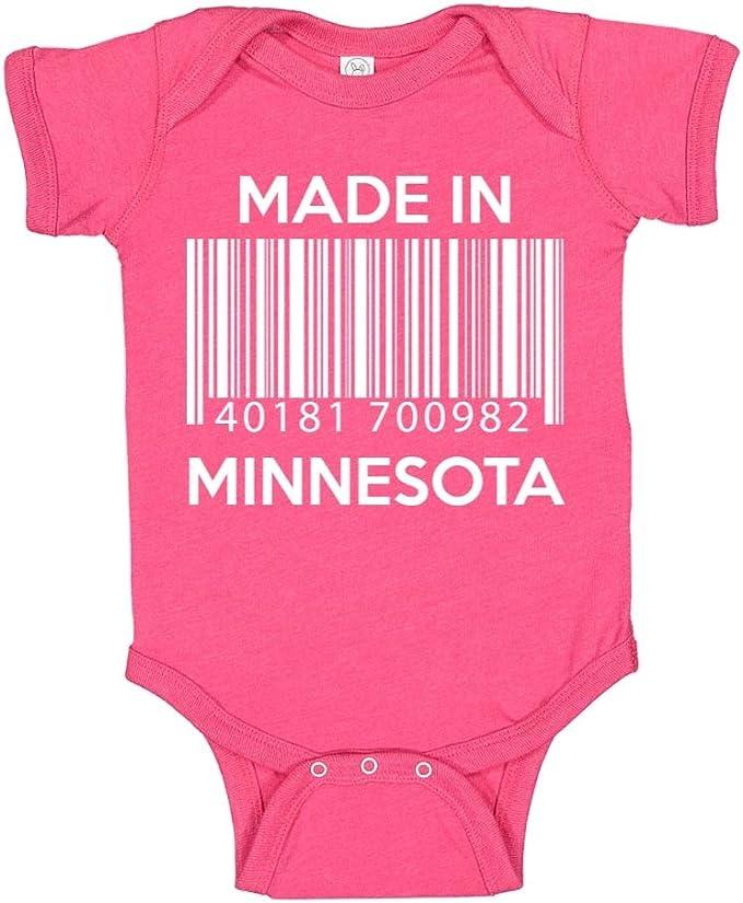 Toddler//Kids Raglan T-Shirt Made in Minnesota Barcode