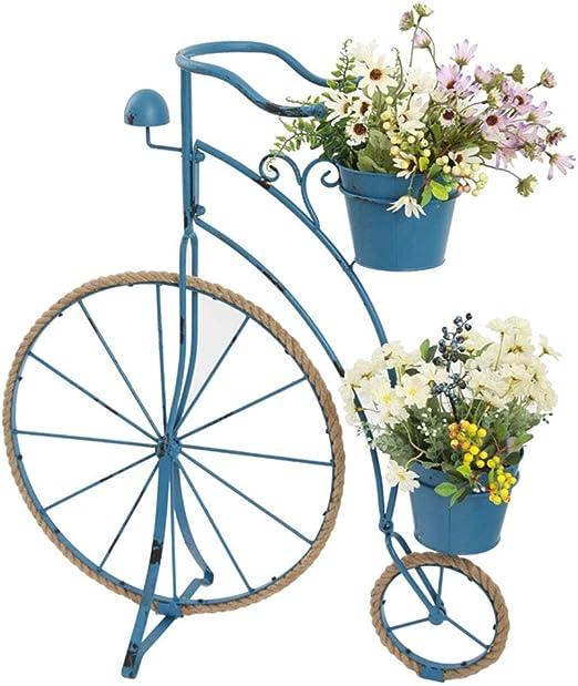 LIYANHJ Planta de Metal Cestas de pie, decoración de Bicicleta de ...