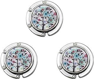 Dsaren Porte Sac a Main pour Table, Accroche-Sacs Pliables Purse Hook Handbag Holder (Papillon + Fleur + Sapin de Noël 3 Pièces)