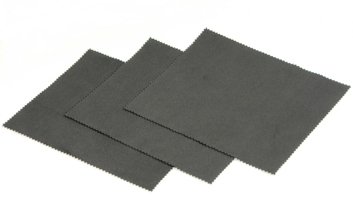 Horosafe Buffing Cleaning Cloth for Watches - Black (7x6) - 3 pack