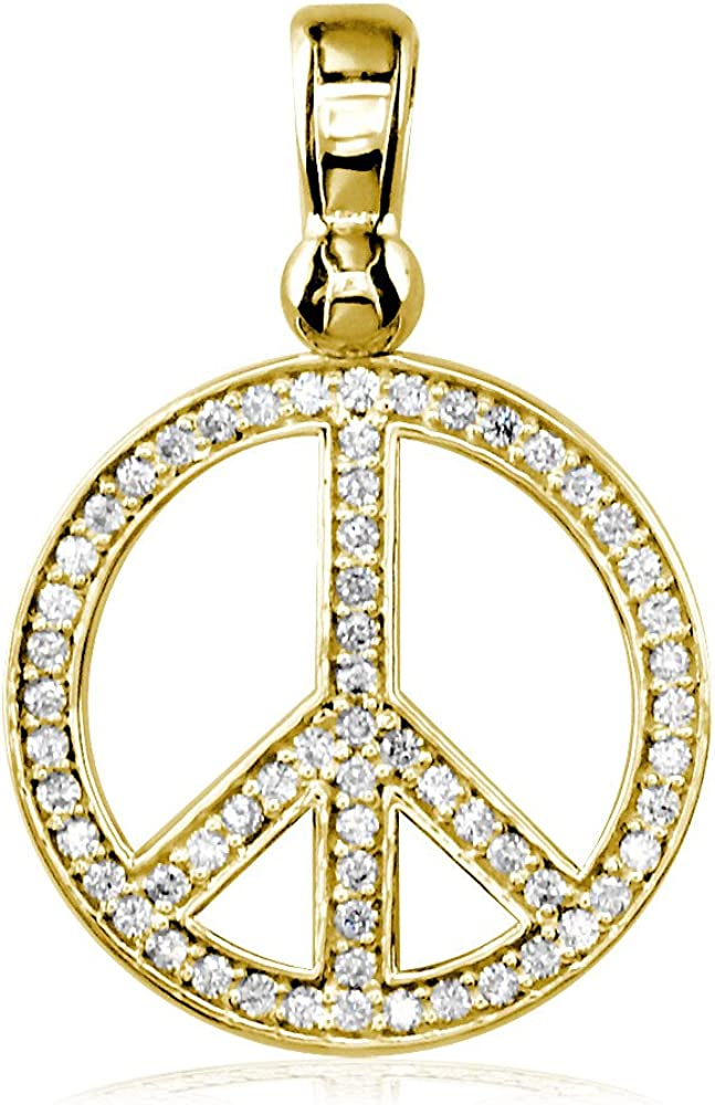 Peace symbol pendant Mykonos Greek Castings-27x34mm, peace sign pendant