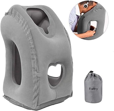 Amazon.com: Almohada de viaje inflable Ralthy, almohada de ...